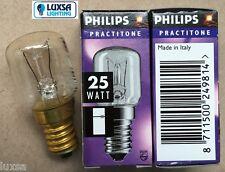 Pack of 2, 25W 25 Watt SES E14 Philips practitone fridge lamp bulb