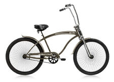 "Micargi 26"" Rover GT 68 spokes Men beach cruiser Oversize Bicycle Matte Gray"