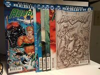 Aquaman Rebirth #1-6 1st Print Variant Covers DC Comics 2016