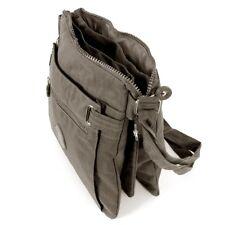 Messenger Bag Handtasche Umhängetasche Bag Street Nylon Grau 2225 leicht kompakt