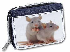 Silver Blue Rats Girls/Ladies Denim Purse Wallet Christmas Gift Idea, RAT-1JW