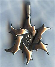STAR OF DAVID SILVER PEWTER PENDANT BALL CHAIN NECKLACE-JEWISH UNISEX JEWELRY