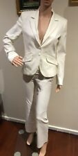 ❤️❤️❤️ Sexy Portmans White Suits Jacket Blazer + Pants Size 6 8 ❤️❤️❤️
