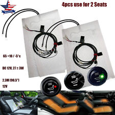 2 Seats Universal Round Switch Seat Heater Heated Cushion Warmer Cover Kit 4 Pad