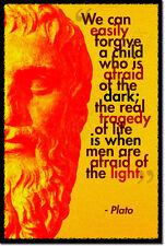 Platone ARTE FOTO STAMPA POSTER REGALO filosofia paura della luce preventivo