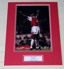 IAN WRIGHT ARSENAL HAND SIGNED AUTOGRAPH 16X12 PHOTO MOUNT