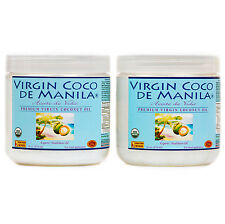 Organic 100% Virgin Coconut Oil Manila Coco CLEAN NUTRIENT DENSE FUEL 2x16/ 32oz