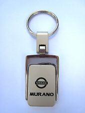 New Nissan Murano Sq. Metal Logo Key Chain Ring Fob. Handsome, Quality Keychain.