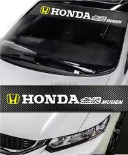HONDA Mugen Power Drift Racing Windshield Carbon Fiber Banner Decal Sticker