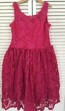 NEW FIVE LOAVES TWO FISH Pretty In Pink Floral Flare Party Dress sz 16 New