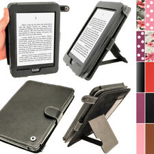 "Negro Funda Case eco-piel para Amazon Kindle 3G Paperwhite 6"" Display Wi-Fi 2GB"