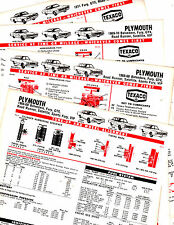 1966 TO 1969 1970 1971 PLYMOUTH SATELLITE FURY ROADRUNNER LUBE TUNEUP CHARTS CC3