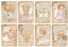 Angel Cherubs Glossy Finish Card Topper - Crafts Embellishment