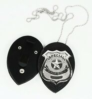 Police Officer Badge Chain Clip Costume Accessory Child Adult Men's Boys
