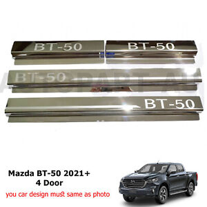 Fit Mazda BT-50 4Door Double Cab 2021 Scuff Plate Door Sill 4Pcs