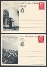 STORIA POSTALE REGNO 1933 Intero Postale Turistica 75c Serie Completa(NO Ponale)