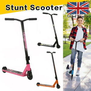 Stunt Scooter Teens / Kids 360 Degree Fixed Bar Pro Push Scooter Trick Toy Fun