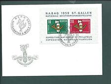 Bern, Ausgabetag 9. Marz. 1959, St. Gallen Exposition, Nationale de Philatelie