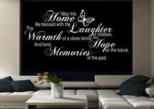 Family Home Memories Room Wall Art Sticker Quote Decal Stencil Transfer WSD491