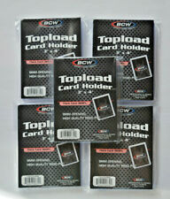 """5 x BCW Topload Card Holder transparent Thick Cards 360 Pt. 9 mm offen - 3"""" x 4"""""""