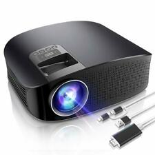 Video Projector, HD LED LCD Projector for Home Theater/Outdoor Mini Movie bundle