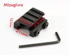 3-Slot Low Base Riser Converter Adapter 21mm Picatinny Rail Scope Mount Rail