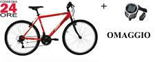 """Bici Bicicletta 26"""" 18 Velocità Manettini Cambio Shimano TY21 Mountain Bike"""