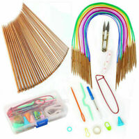 Circular Knitting Needles Kit Accessories Bamboo Weaving Ergonomic Xmas Supplies