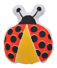 NEW Kids Childrens Ladybird Soft Stuffed Cushion Red and Yellow Handmade in Aust