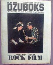 R.DE NIRO/THE ROLLING STONES-YUGOSLAV MUSIC MAGAZINE 1978+YES/RAINBOW/THE TUBES
