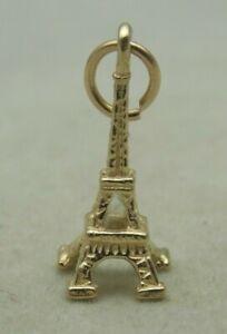 3D 9 CARAT YELLOW GOLD EIFFLE TOWER  CHARM
