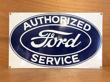 "Ford Service Porcelain Sign Oversized Licensed Ford- Rare - New -  18"" W x 10.75"