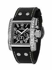 Rechteckige Armbanduhren aus echtem Leder mit Datumsanzeige für Damen