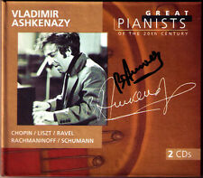 ASHKENAZY signed GREAT PIANISTS OF THE 20th CENTURY 2cd Borodin CHOPIN LISZT