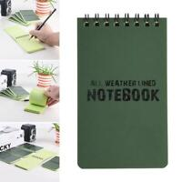Waterproof All Weather Notepad Notebook Note Pad Book Army Cadets Camping Top