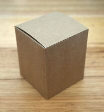 x12 KRAFT BROWN BOXES SMALL - cups mugs candles presentation - 80 x 80 x 100mm