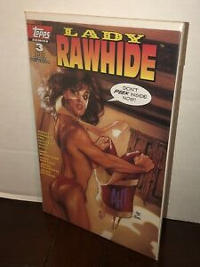 Lady Rawhide #3 Topps Comics 1995 Adam Hughes Variant Cover White Pages Signed