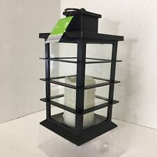 "Gardenline Lantern Black  LED Flameless Candle Built In With Timer 12"" Tall"