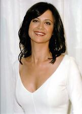 CATHERINE BELL 8x10 sexy white low cut dress