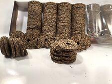 "Cork Rings Mixed Grain #15  Inlay / Transition Rings 1/8"" Thick,16 Rings"