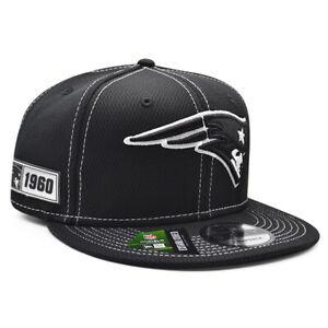 New England Patriots 2019 NFL Sideline Road 9FIFTY Snapback Hat - Black