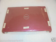 NEW OEM Dell Studio 1555 1557 1558 Red LCD  Back Cover & Hinges - 6PNWT