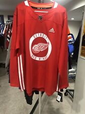 Detroit Red Wings Practise Jerset Nwt 56 Adidas