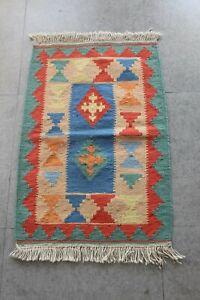 Beautiful traditional Georgian kilim. size: 2.06 x 3.14 ft, 96 x 63 cm
