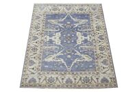 "8X10 Oushak Hand-Knotted Wool Area Rug Gray-Blue Oriental Carpet (8' x 9'11"")"