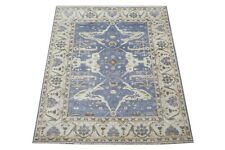 """8X10 Oushak Hand-Knotted Wool Area Rug Gray-Blue Oriental Carpet (8' x 9'11"""")"""