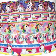 "Grosgrain Ribbon 7/8"" - ( 5 Yard mixed lot ) Unicorns Unicorn LT2 BULK WHOLESALE"