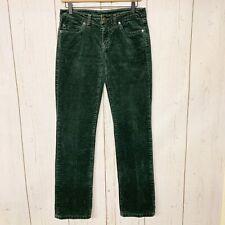 Patagonia Green Straight Leg Corduroy Pants EUC Womens 27
