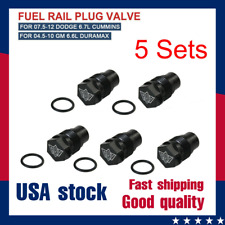 5PCS Fuel Rail Plug Valve for 07.5-12 Dodge 6.7L Cummins 04.5-10 GM 6.6L Duramax