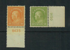 Us Scott # 510 and 513, Mint / Vf / Lh Plate Number Singles! Scv $24.50
